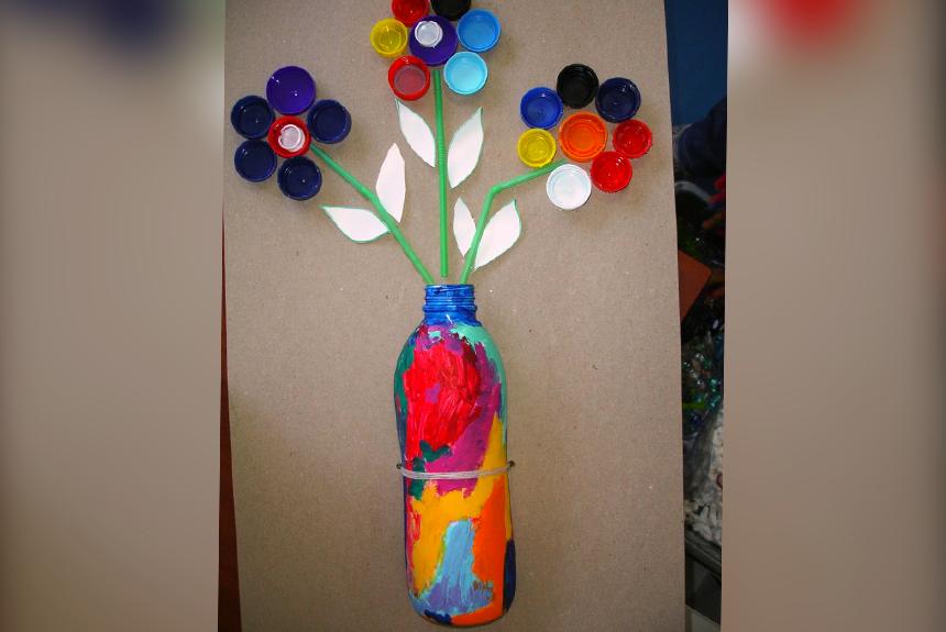 Ramo de flores. Imagen vía: manualidadesartesanas.com